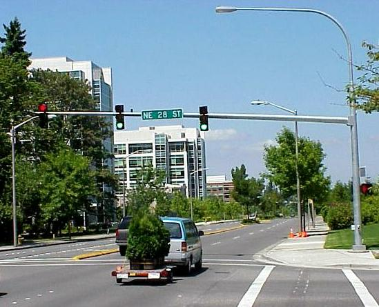 Approaching the main campus via 156th ave ne about 3 blocks from my