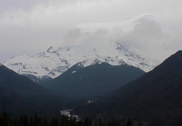 Tacoma Narrows And Mount Rainier May 12 2001